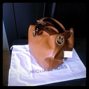 Michael Kors Fulton Lg leather shoulder tote